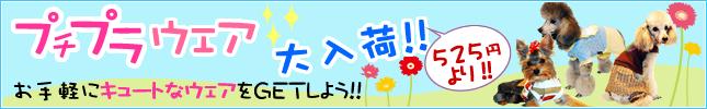 犬服のビックスマイル「プチプラウェア大入荷!525円より!」