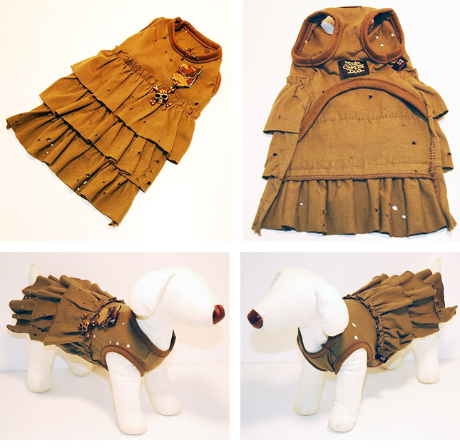 犬服のビックスマイル「DON CHIBI DOG スカルビンテージワンピース」