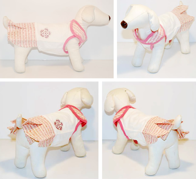 犬服のビックスマイル「キラキラカメリアのセレブワンピース★キュートピンク[Dogginess]」