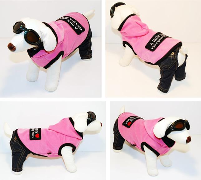 犬服のビックスマイル「Bigワッペン フードパーカー」
