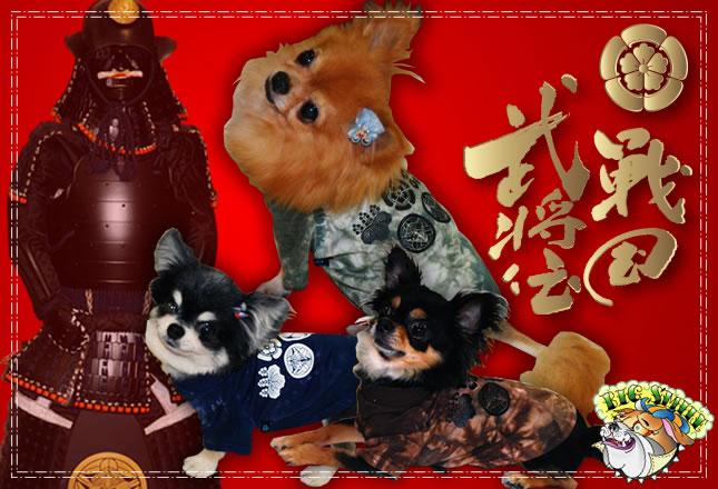 犬服のビックスマイル「戦国武将伝Tシャツ」