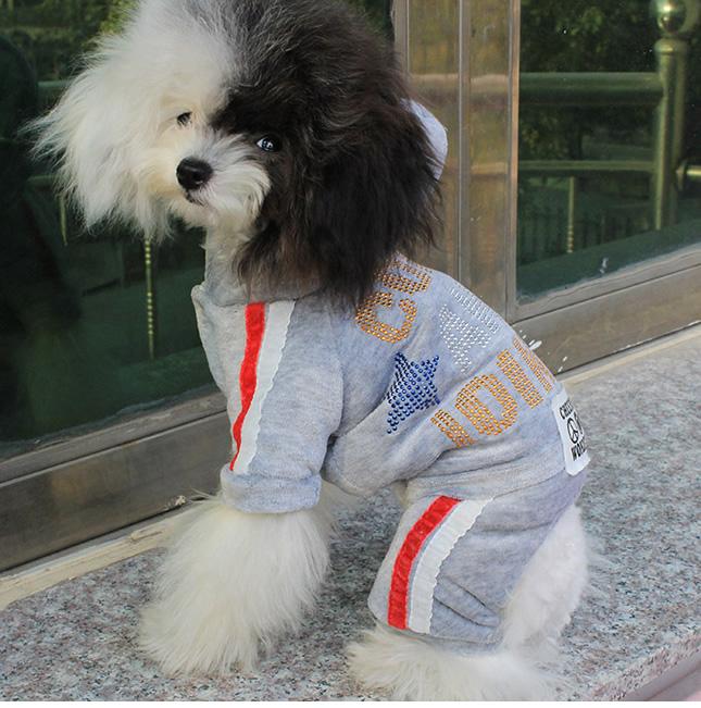 犬服のビックスマイル「フワフワベロアのあったかつなぎ」