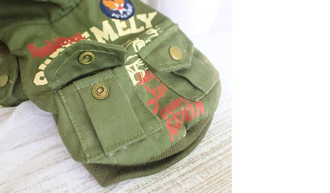 犬服のビックスマイル「ミリタリーファージャケット」