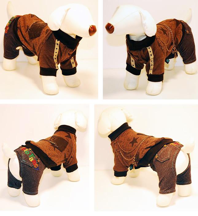犬服のビックスマイル「ビンテージ クロス スター トレーナー【DON CHIBI DOG】」