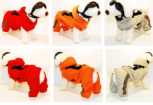 犬服のビックスマイル「DOG HOLLYWOOD スポーツライン ロンパース(つなぎ)」