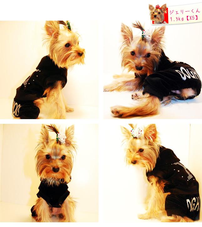 犬服のビックスマイル「DOG HOLLYWOOD キラキラ ベロア ロンパース(つなぎ)」