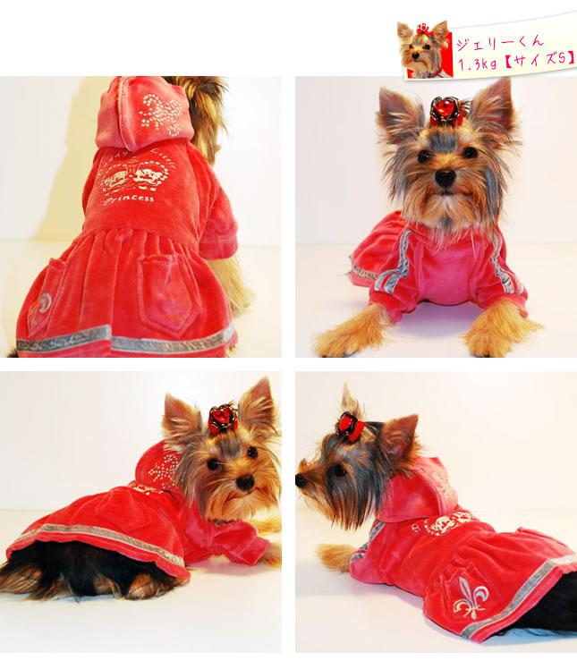 犬服のビックスマイル「キラキラクラウンワンピース【Doggines(ドギネス)】」