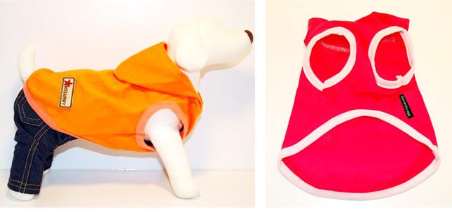 犬服のビックスマイル「ビタミンカラーのフードパーカー[Domarshu Egg]」