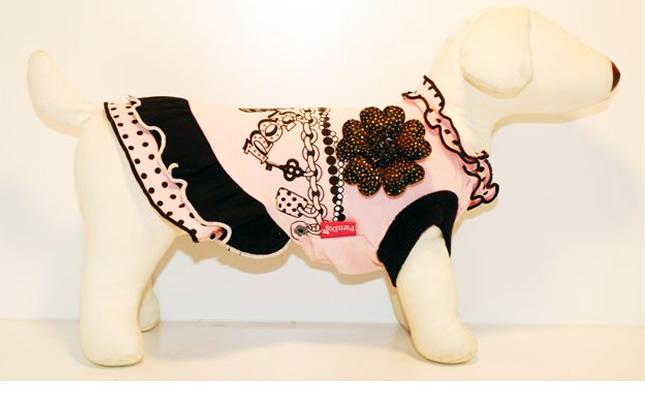 犬服のビックスマイル「Parisdog ROMANTIC プリントドレス」