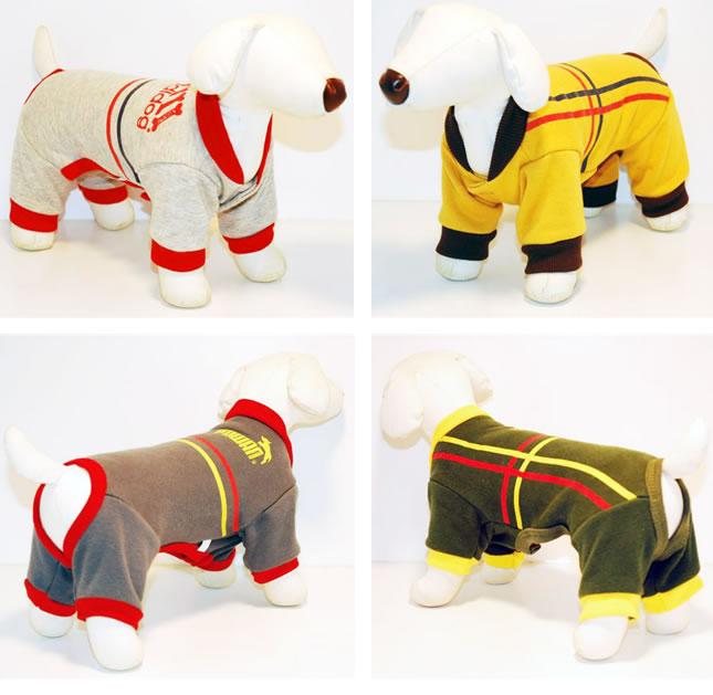 犬服のビックスマイル「パロディ ライン つなぎ」
