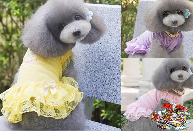 犬服のビックスマイル「マカロンフリルのワンピース」