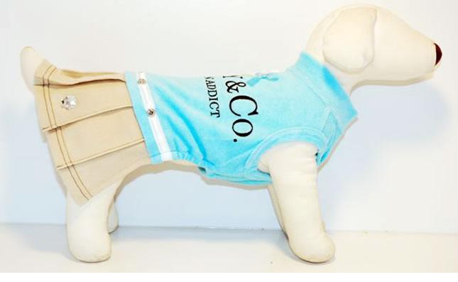 犬服のビックスマイル「RUPY パイルロゴワンピ」